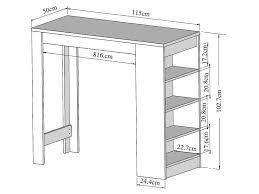 Table Bar 115 X 50 Cm Rangement Rey Coloris Blanc Vente De Table