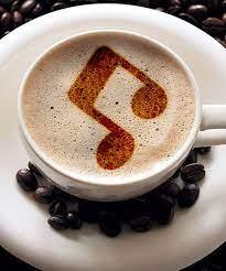 Music Coffee Stencil   Coffee stencils, Coffee music, Coffee art