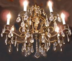 antique br crystal chandelier image and candle antique brass crystal chandelier image antique and