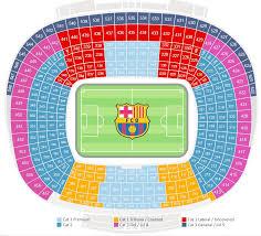 Fc Barcelona Seating Chart Barcelona Real Madrid Football
