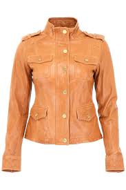 michael michael kors leather jacket acorn brown