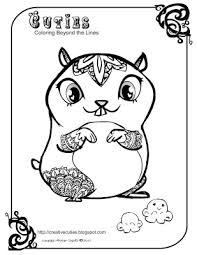 Cute Hamster Coloring Pages Get Coloring Pages