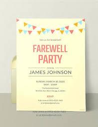 Farewell Invitation Templates Free Download Free Farewell Breakfast