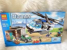 Chỉ 390,000đ - Lego urban 10423 - trực thăng cứu hộ 528 chi tiết CHO BE
