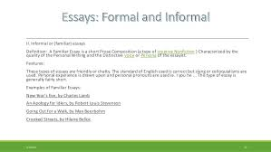 familiar essay the english familiar essay representative texts william frank bryan