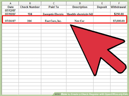 check register how to create a check register with openoffice org calc wikihow
