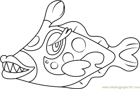 Bruxish Pokemon Sun And Moon Coloring Page Free Pokémon Sun And