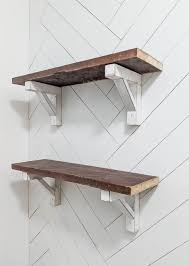 and easy diy shelf brackets