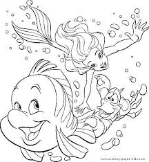 Little Mermaid Printable Coloring Pages Cute Mermaid Coloring Pages