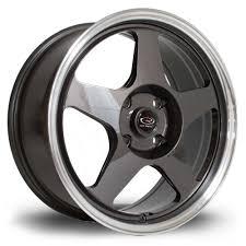 rota wheels 4x100. 4 x rota slipstream gunmetal / polished lip alloy wheels 17x7.5\ 4x100 i