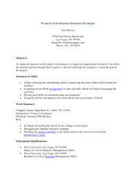 Alluring Project Coordinator Resume Objective On Logistics Sample Of