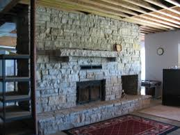 Real Stone Fireplace ...