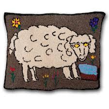 las rancheritas hooked rug folk art sheep pueblito gonzales