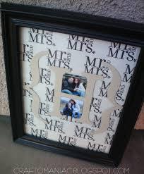 diy monogrammed wedding gift