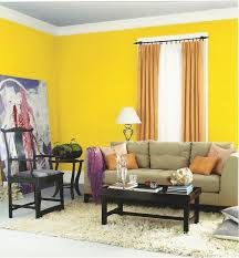 living room design yellow wall decoration carpet