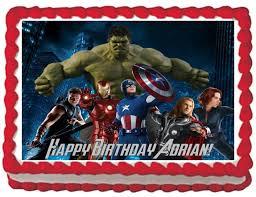 superhero sheet cake avengers superhero edible image cake topper