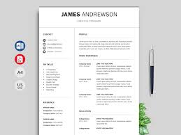 015 Simple Creative Resume Template Free Download Ideas
