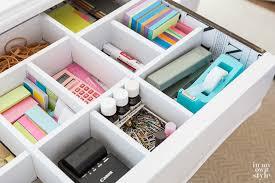 desk drawer organizing idea