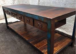 industrial furniture table. Repurposed Industrial Salvage | Upcycled Furniture, Workbench By Old Soul, Victoria Furniture Table E
