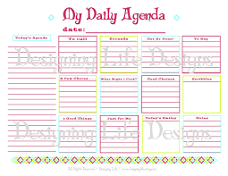 Microsoft Daily Planner Daily Agenda Printable Daily Planner Page PDF To Do List 10