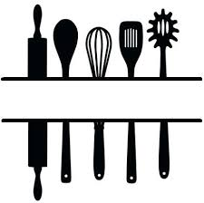 kitchen utensil clipart black and white. Perfect Black Kitchen Utensils Clipart Black And White Cooking Utensil Vector Throughout  Home Design