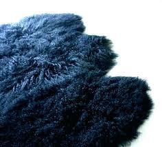 grey mongolian faux fur rug beige sheepskin lamb black floor area charcoal bear purple throw bedroom