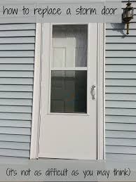 how to replace a storm door my