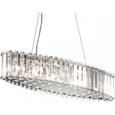 crystal skye oval chandelier for over table or kitchen island safe for bathroom use too