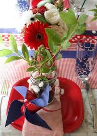 153 best wedding r w b 4th of july theme images on pinterest Ideas For July 4th Summer Wedding festive fourth of july tablesetting 4th of July Wedding Centerpieces