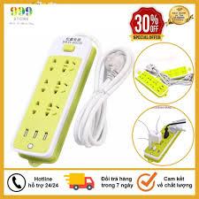 Ổ Cắm Điện Đa Năng Chống Giật 6 Lỗ, 3 Cổng USB, Đa Năng Tiện Dụng giá cạnh  tranh