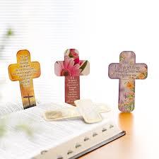 Paper Cross Bookmark - John 3:16   Christian Art Gifts