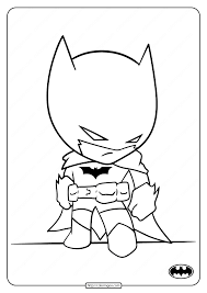 A cool collection of batman coloring pages. Printable Cute Batman Coloring Pages For Kids