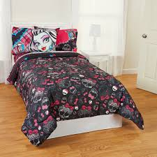 monster high right to fright twin full reversible comforter black