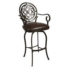 leather bar stools with arms. Full Size Of Black Iron Swivel Bar Stool Using Leather Seat And Round Carved Back With Stools Arms