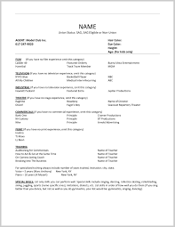Acting Resume Template Free Fantastic Free Acting Resume Template 24 Resume Ideas 1