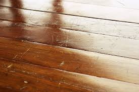 scratched wood floor