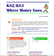 Where Money Goes teaching resource for Key Stage 2 and 3 ...