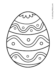 Easter Egg Coloring Pages For Preschoolers Printable Coloring Page