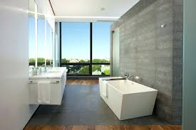 decorating large wall space bathroom modern with marble counter mounted faucet freestanding bathtub shower stall window