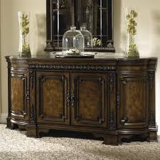 dining credenza with wood top gallery rail and silverware