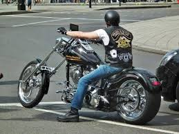 riding a harley davidson totally rad choppers