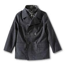 cherokee infant toddler boys tweed peacoat jacket coat charcoal size 7