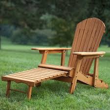 reclining chair with ottoman outdoor. outdoor adirondack chair recliner with slide-out ottoman in kiln-dried fir wood reclining