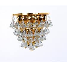 parma single crystal wall light in gold finish cfh011025 01 wb g