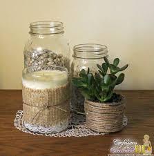 Decorate Glass Jar Decorating with Burlap Make a Centerpiece DTCasualElegance 24