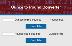Ounces To Pounds Chart Convert Ounces To Pounds Lovetoknow