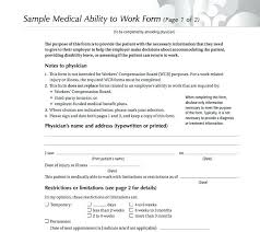 Return To Work Medical Form Best Free Doctor Notes Return To Work Arrangements Template Doctors Note