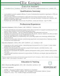 Executive Assistant Resume Professional Summary Admin Examples