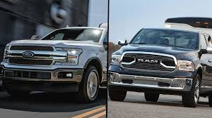 2018 Ford F-150 and 2018 Ram 1500 diesel full-size pickup trucks ...