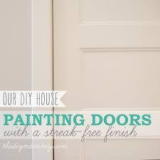 painting shaker style doors with a streak free and brush stroke free finish the
